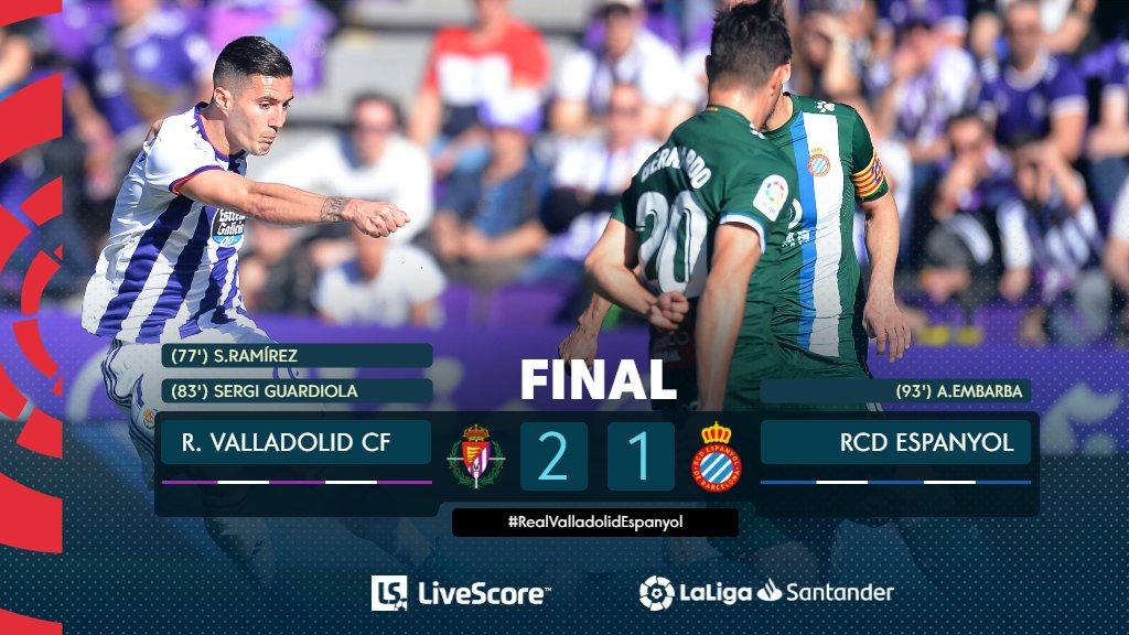 Real Valladolid-Espanyol Barcelone