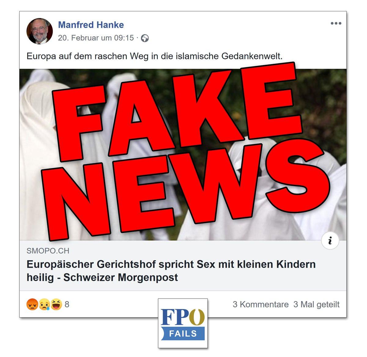 [Thread] Bei Manfred Hanke, FPÖ-Ortsparteiobmann u. Gemeinderat v. Sollenau, fragen wir uns schon lange nicht mehr, wie es um seine freiheitliche Gedankenwelt bestellt ist.  Wieder wird der Verhetzungsartikel des rechtsextremen Hetzmediums http://SMOPO.ch v. 2018 geteilt.pic.twitter.com/kVSYQAzZKq