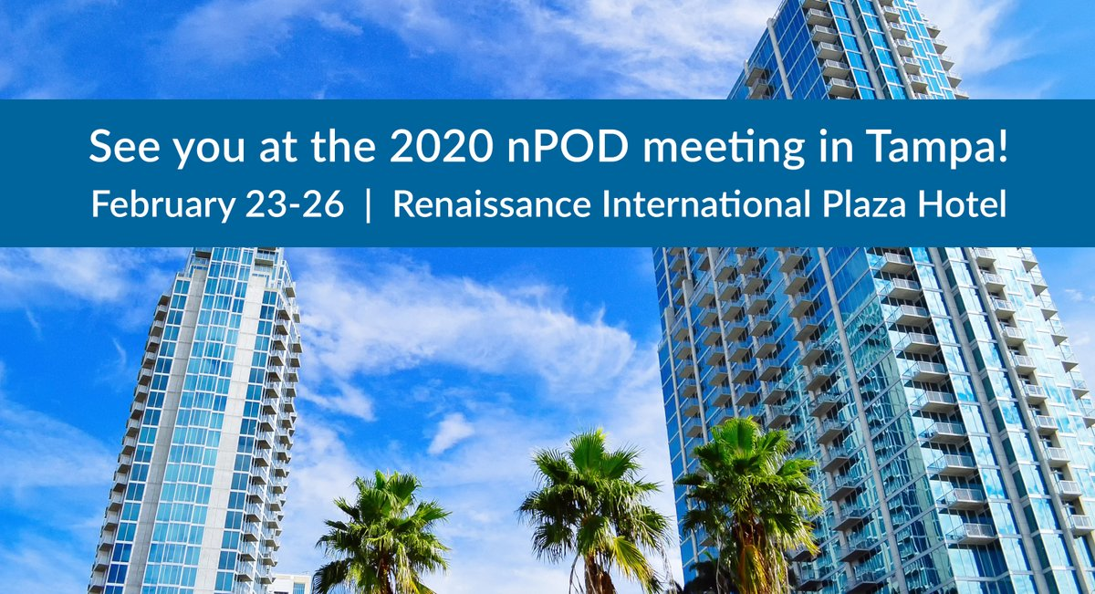 We're attending the JDRF's 12th Annual nPOD Meeting in Tampa this week. We're excited about the engaging itinerary addressing key questions related to cutting edge #Type1Diabetes research  We hope to meet you there!  #T1D #DiabetesResearch #ALPCOOnTheRoad @JDRF @DiabetesnPOD https://t.co/PSVGtmNS2e