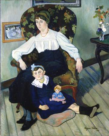 Portrait of Marie Coca and her Daughter, 1913 #postimpressionism #suzannevaladon