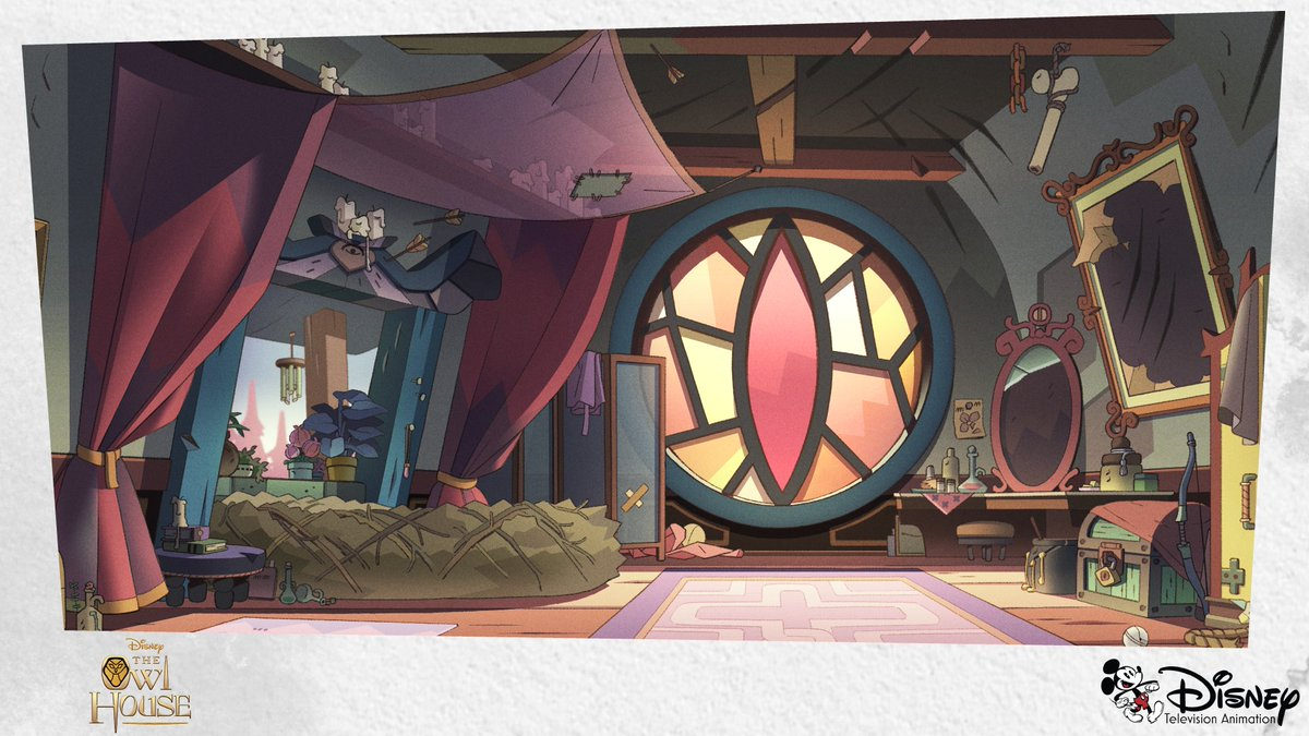 It definitely took a sprinkle of magic to design these #TheOwlHouse backgrounds🤩 RT if you agree!