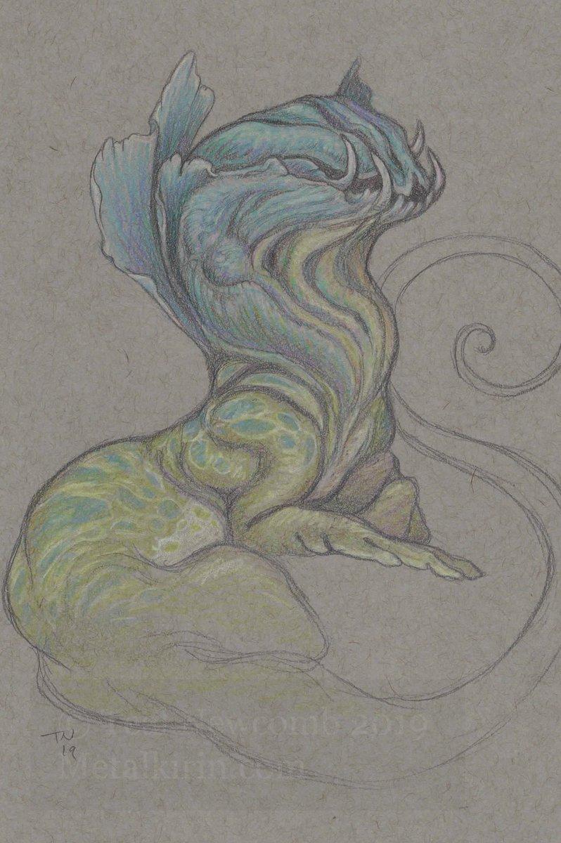 Colored pencil cuties. 5″x7″ish on grey sketch paper