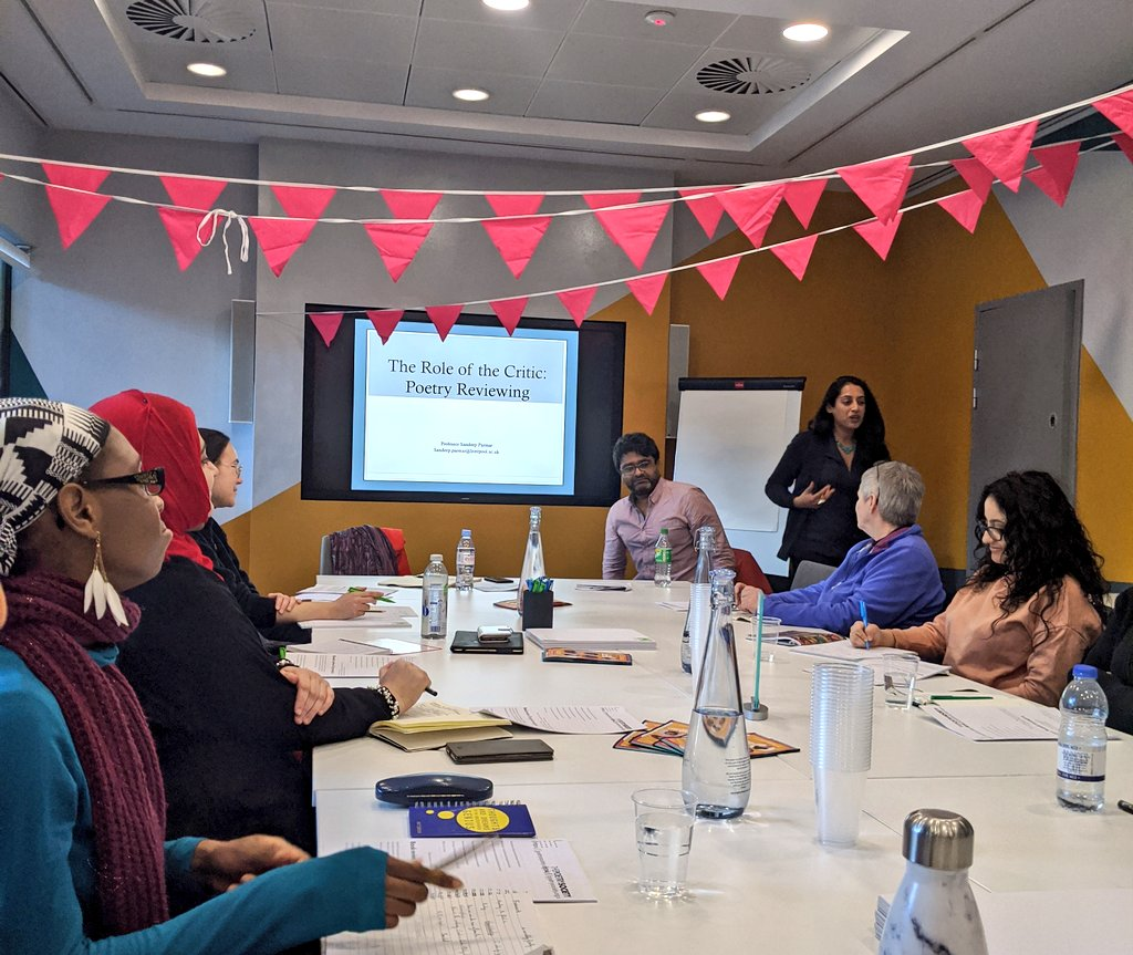 Snuck into @SandeepKParmar's excellent workshop on poetry reviewing and critical culture.