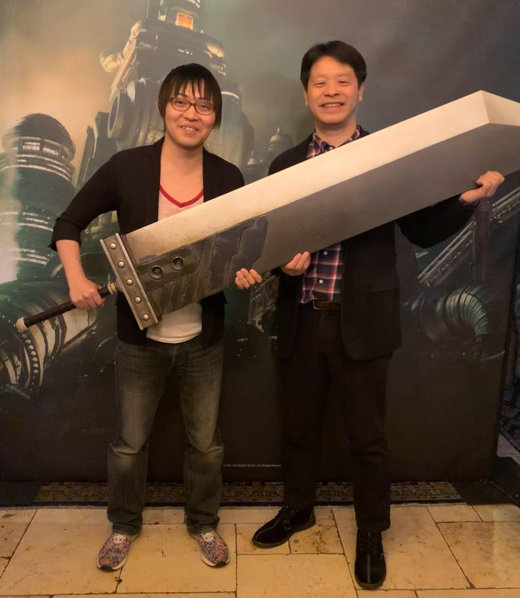 #FinalFantasy VII Remake co-director Naoki Hamaguchi (left) and producer Yoshinori Kitase (right) have been in both Spain and Italy this week.We hope you'll wish them all the best on their travels to England, Germany and France over the coming days! #FF7R