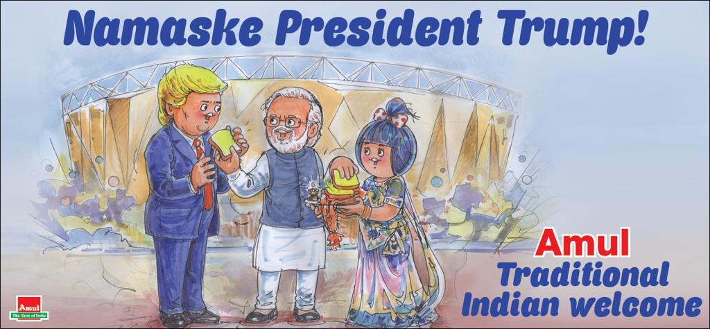 #Amul Topical: Hon. President of USA visits Ahmedabad!