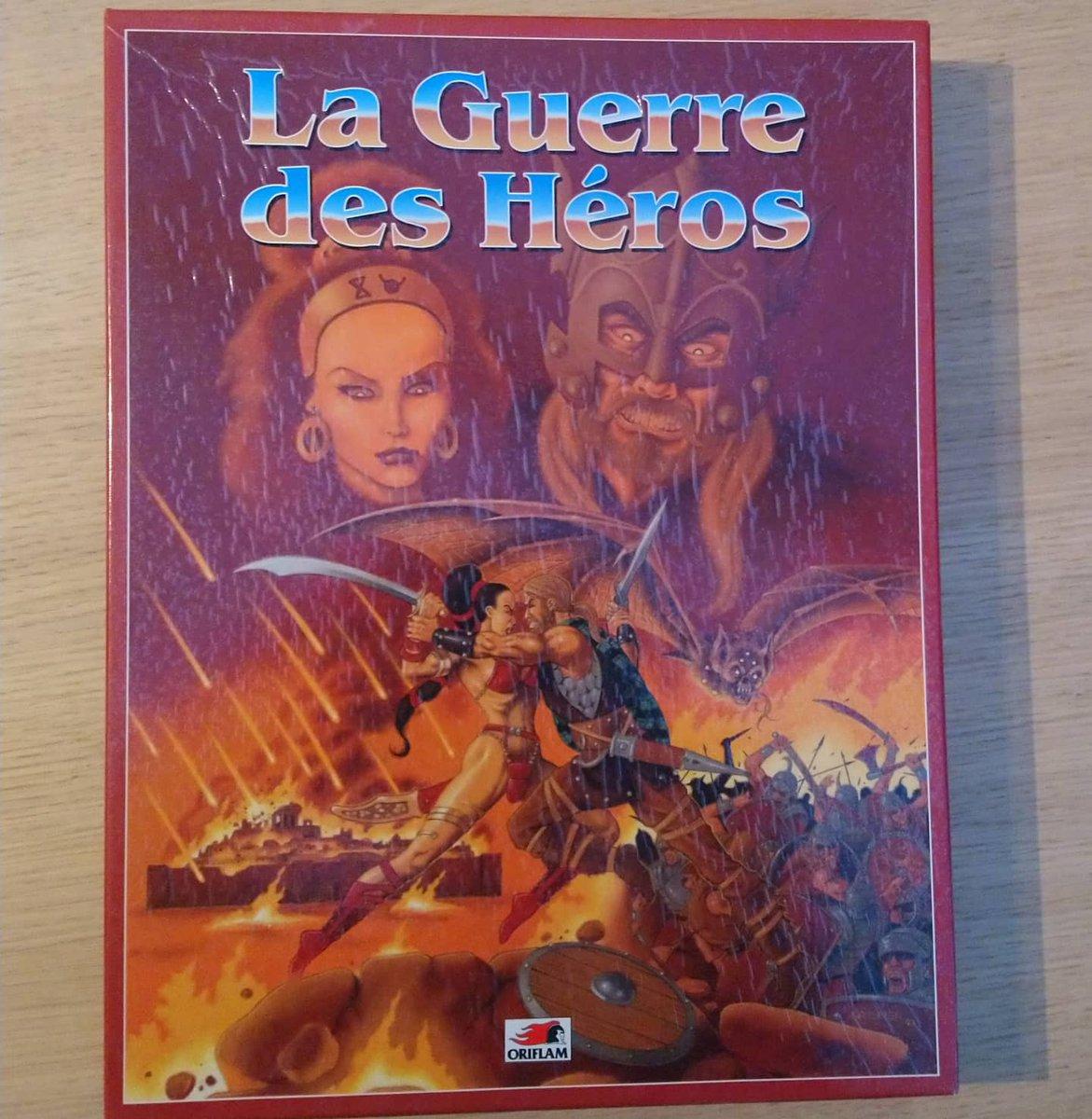 La guerre des héros, le wargame permettant de reconstituer des bataille dans Glorantha, sorti chez Oriflam en 1993. Super pour les inconditionnels de RuneQuest mais compliqué. #glorantha #wargame #jeudesociete #vintage #JDRpic.twitter.com/DfggqfZ5Rb