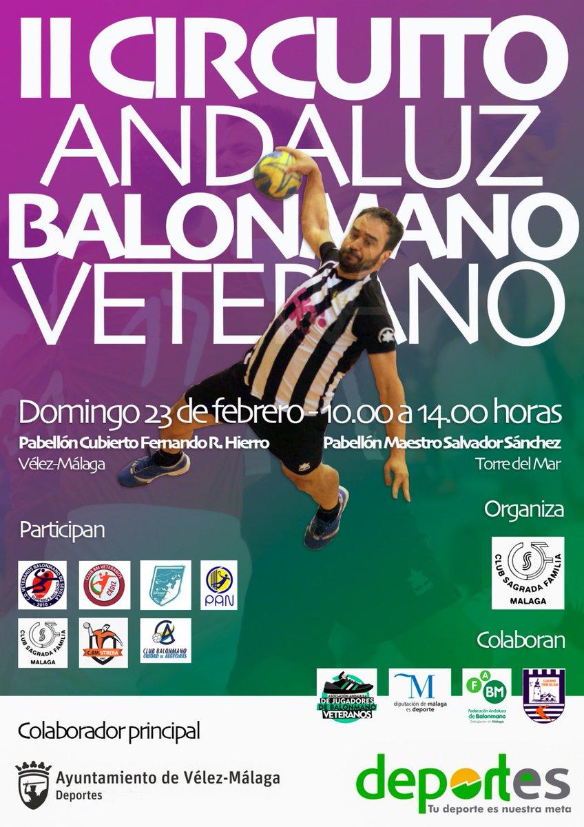 Espectacular jornada del II Circuito Andaluz de Balonmano Veterano con @asajbmv en Vélez-Malaga y Torre del Mar. Hemos colaborado con nuestros #arbMLG #RafaRuiz @Ja_Reyes_ @Josedastwittah y los históricos Carlos Aleñá y Ricardo Escaño Grandes!!!  #estoesunnoparar pic.twitter.com/Q4ZslgjYCm