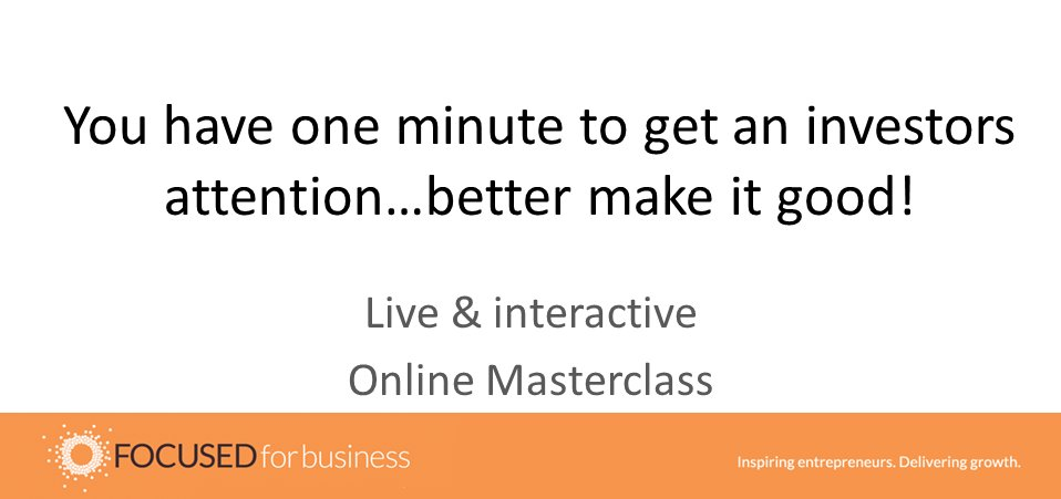Gotta be quick to get an investor's attention. Learn how to write a strong one pager - live webinar gives tips, template & free review http://bit.ly/2ys7e6N  #startups  #Founderspic.twitter.com/ZvhhFB91bO