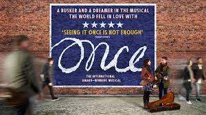 Finally saw stage version of one of my fav indy films #Once @MKTheatre  Wow, the Irish busker-meets-Czech-girl love story was quite magical as the talented cast of actor/musicians delivered the heartfelt lyrics with such raw emotion. Plus, some great laughs too. Loved it! pic.twitter.com/RB3fxOrZDS