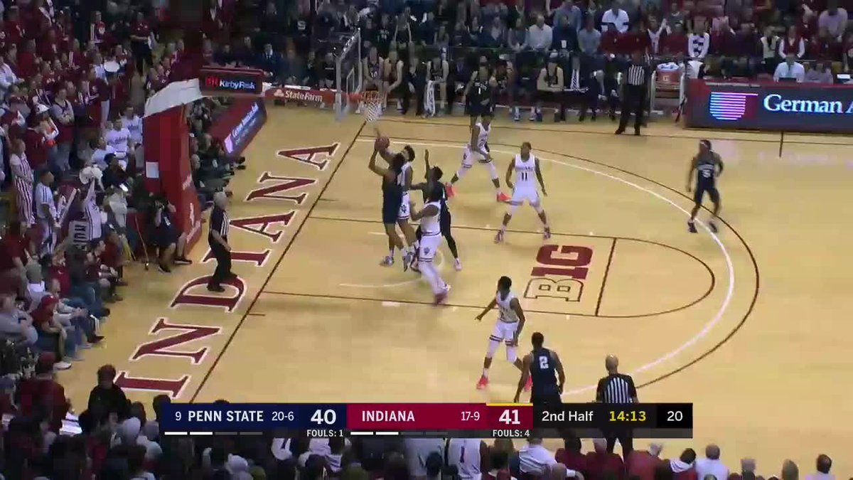 All. The. Way. Back. @PennStateMBB has the lead in Bloomington.