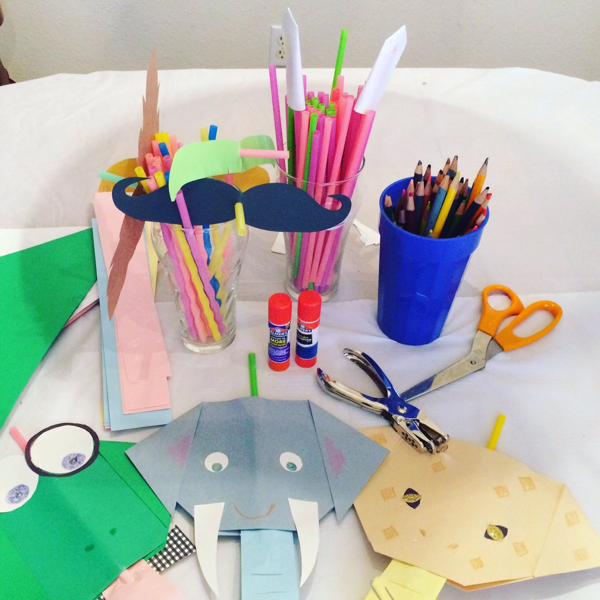 #facebooklive today @ 2:30 pm CST: #humorwithheart — Last Straw Laughter! We'll explore 3 giggle-worthy ways to creatively #repurpose those plastic straws. #recycle #moustache #rockets #animalcrafts #nonprofit #austintx #everyoneiscreative