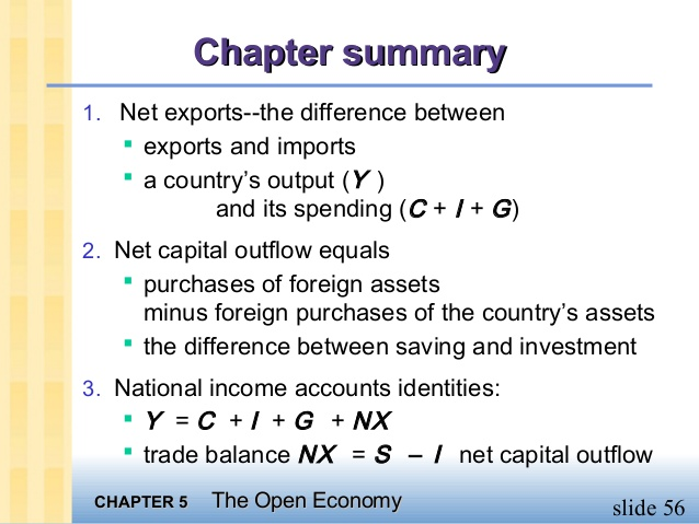 Savings investment net capital out flow formula investment condominium financing rules