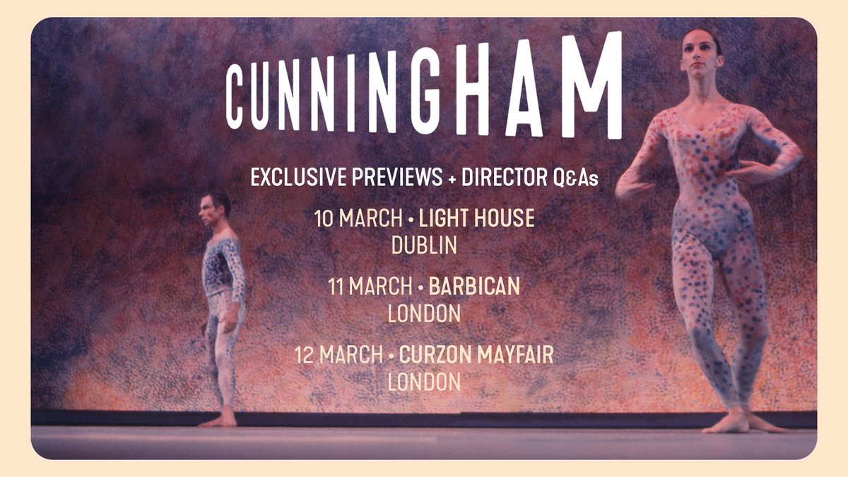 Join @LightHouseD7, @BarbicanCentre and @CurzonMayfair for a series of exclusive #CunninghamFilm previews + Q&As and be amongst the first to watch this year's must-see 3D cinematic experience.  http://cunninghamfilm.co.uk pic.twitter.com/QNQM4xkvnv