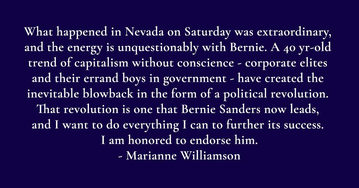 My statement of endorsement.