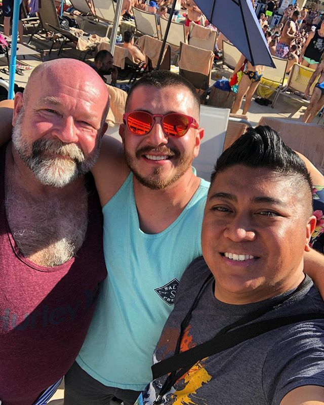 I've missed these bitches! . . . . . #bearevent #ibcps2020 #ibcps #ibc #internationalbearconvergence #gaycouple #gaybear #bearchaser #byronface #instagay #instachaser #instalike #love #2020 #followme #like4like #instagood #bestoftheday #swag #palmsprings