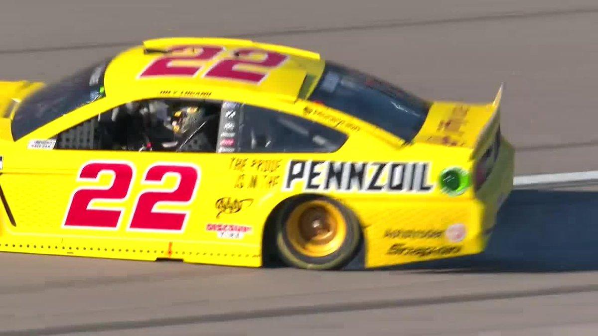 Burn it down, @joeylogano! 🏁 @Team_Penske | @LVMotorSpeedway