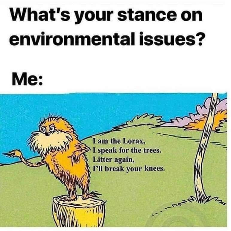 What's your stance?  #oe5 #operationearth #environment  #opinions #opinion #drseuss #lorax #climatestrike #savetheplanet#stoplittering #savethebees #followforfollowpic.twitter.com/0Qj2lPFXP0