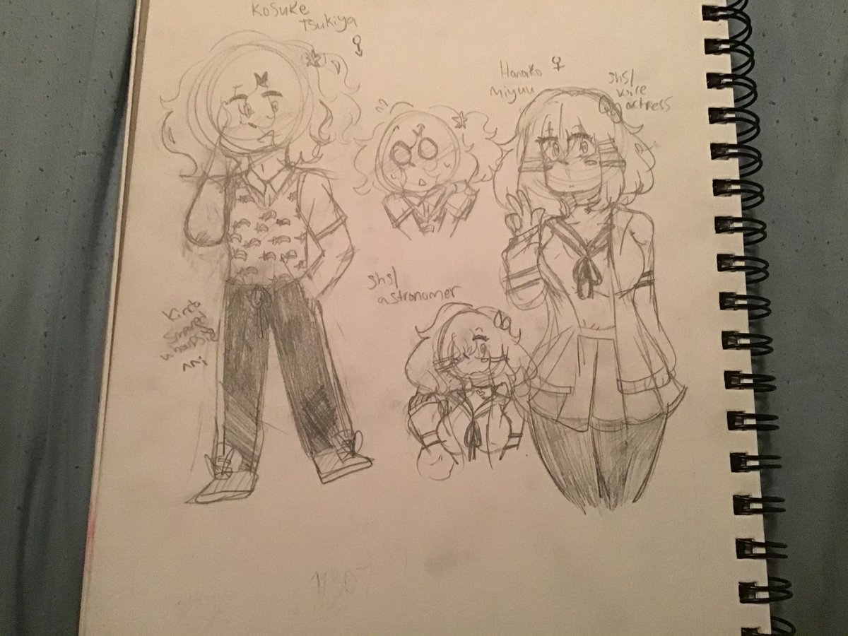 HeY! here's some stuff for my fangan 1st image is alexander montgomery,, my shsl prince! the other two are kosuke tsukiya and hanako miyuu! suke is my astronomer boy and hanako is my voice actress! pic.twitter.com/cYGtxz1fBK