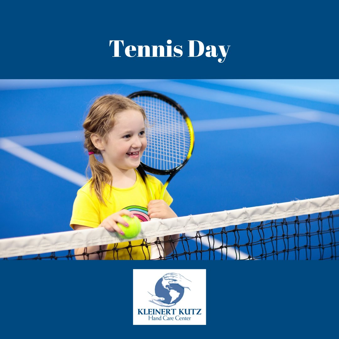 Where are all our tennis players? Happy Tennis Day! Go to our Facebook page to find tips on how to avoid tennis elbow.  If you do a tennis injury, call us to make an appointment at 502-561-HAND (4263).  #TennisDay #TennisElbow #SportSafetypic.twitter.com/eDsb5BRyXZ