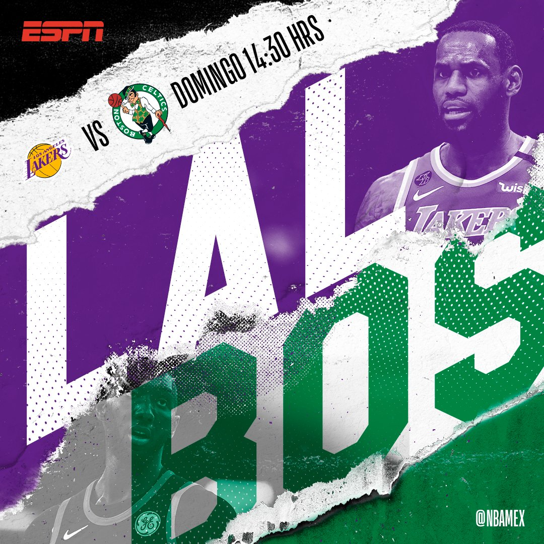 ¿Están listos para disfrutar de un nuevo capítulo de la histórica rivalidad @Lakers - @celtics?   🏀: #LakeShow - #Celtics ⏰: 14:30 horas. 🏟: Staples Center. 📺: ESPN.