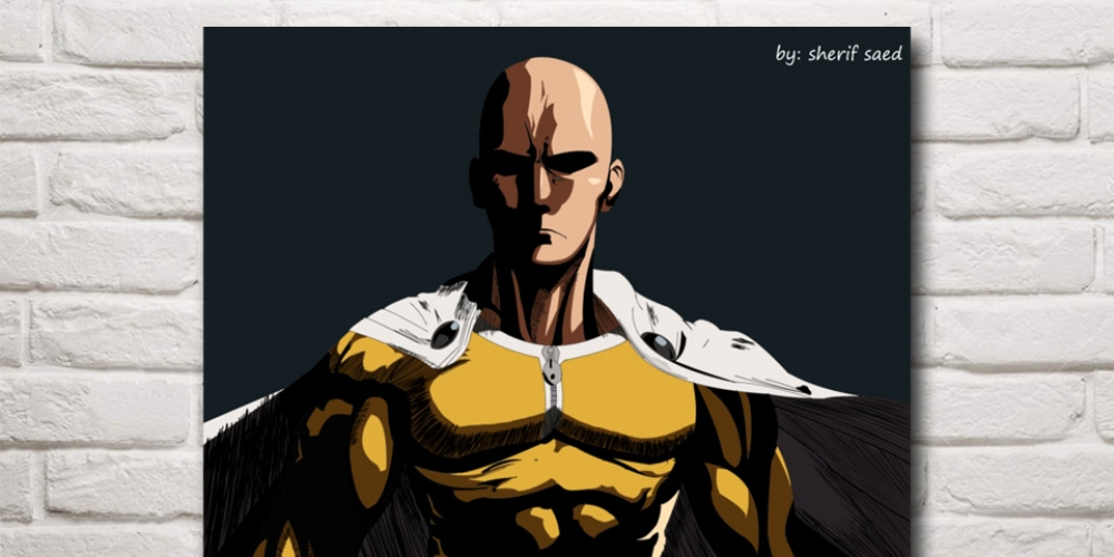 One Punch Man Silk Poster #kawaii #cute #photoshoot