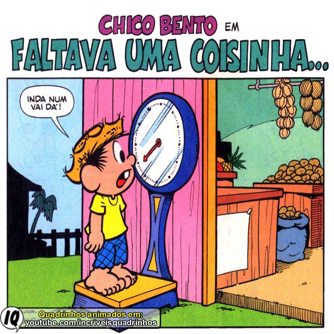 Veja historias mais longas e com animação no nosso canal no YouTube:    #chicobento #turmadamonica #quadrinhos #gibi #gordinho #guloso #desenho