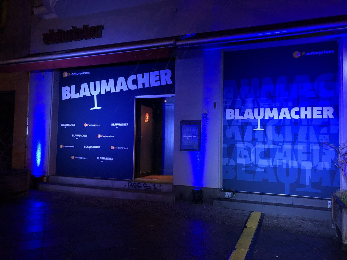 Preparations finished for tonight's Blaumacher-Party @berlinale (for invited guests only). Looking forward to welcoming you!<br>http://pic.twitter.com/DvVIPKTly2
