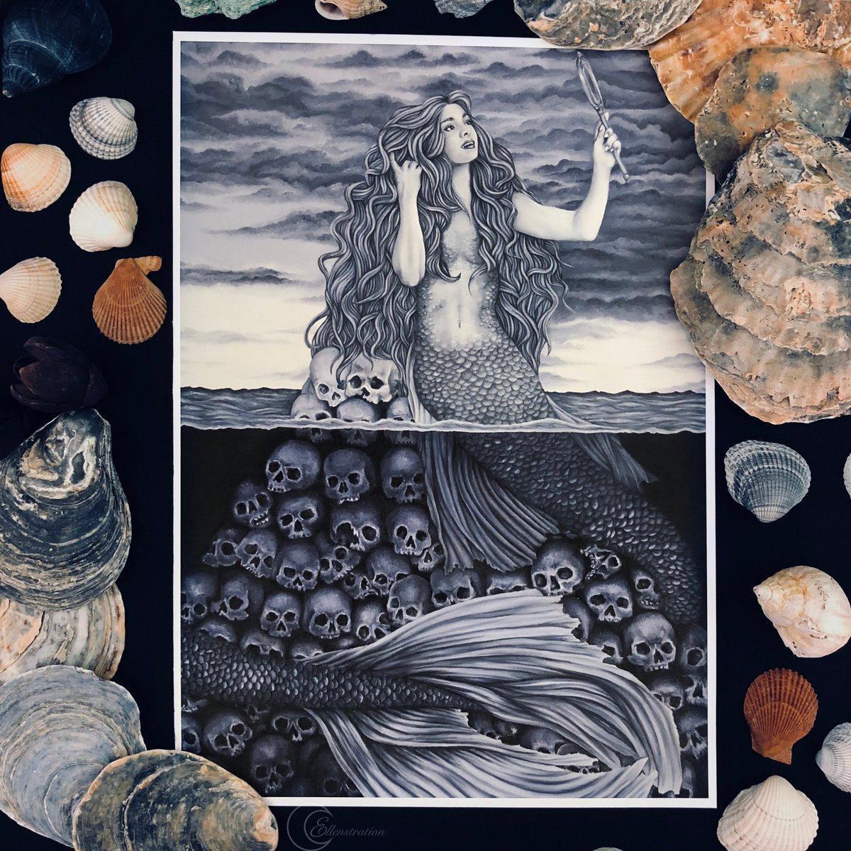 @IndiiCreates I love drawing & painting fantasy ladies with a gothic romance twist I have prints available here: 🛍 ellenstration.com/store Also my mermaid colouring book is available too 🧜 ✨Right now there is a sale on✨ 20% orders over £20 Code: SALE20
