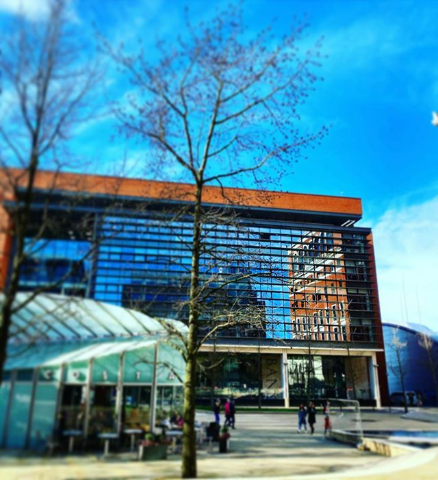 Brindley Place  #birmingham #bhamgram #independentbirmingham #igersbirmingham #0121shooters #city #iphoneonly #midlands #sky #blue #reflection