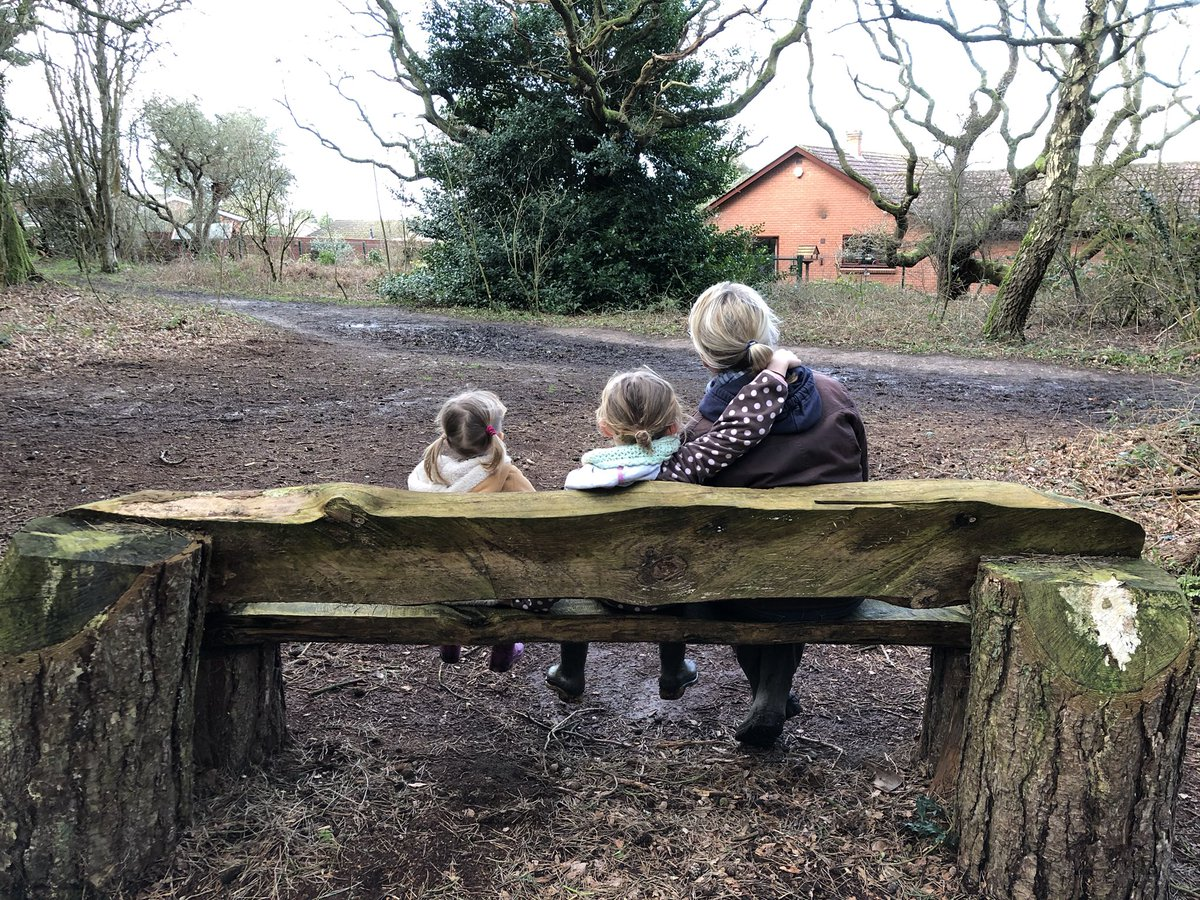 Back to #Parliament tomorrow after a busy recess. Always hard saying bye bye to my girls. 👋 A lovely afternoon spent around Pretty Corner Woods in Sheringham, thank you for maintaining it @NorthNorfolkDC #family #children
