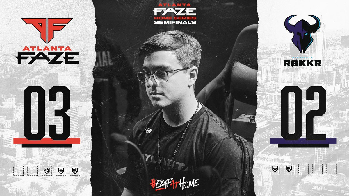 REVERSE SWEEP COMPLETE!  GG's, @ROKKR. What a series 👏  WE ADVANCE TO THE ATLANTA HOME SERIES GRAND FINAL!!!  #EZAFAtHome   https://t.co/2xOa3pDOV0 https://t.co/YSVN8cqv4u