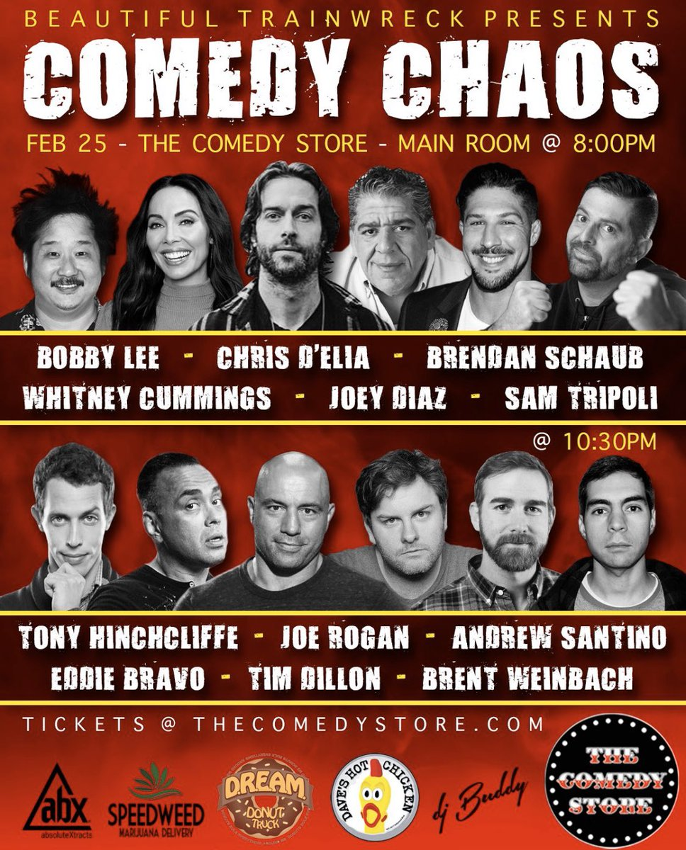 This Tuesday @TheComedyStore will be bananas @samtripoli puts these shoes together ❤️