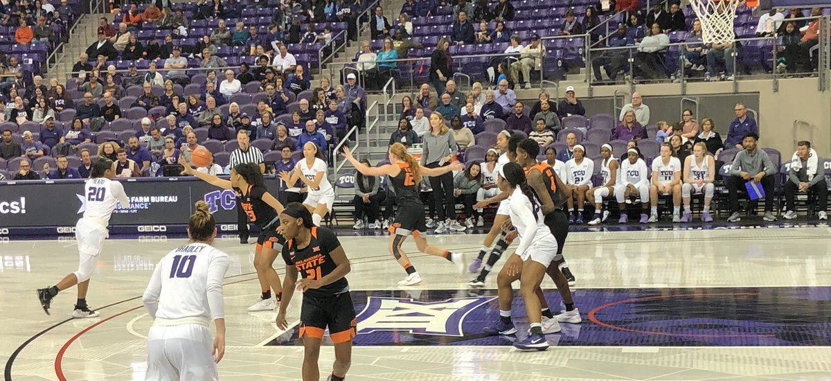 Sunday afternoon fun: Watching @TCUWbasketball go for its 20th win of the season!