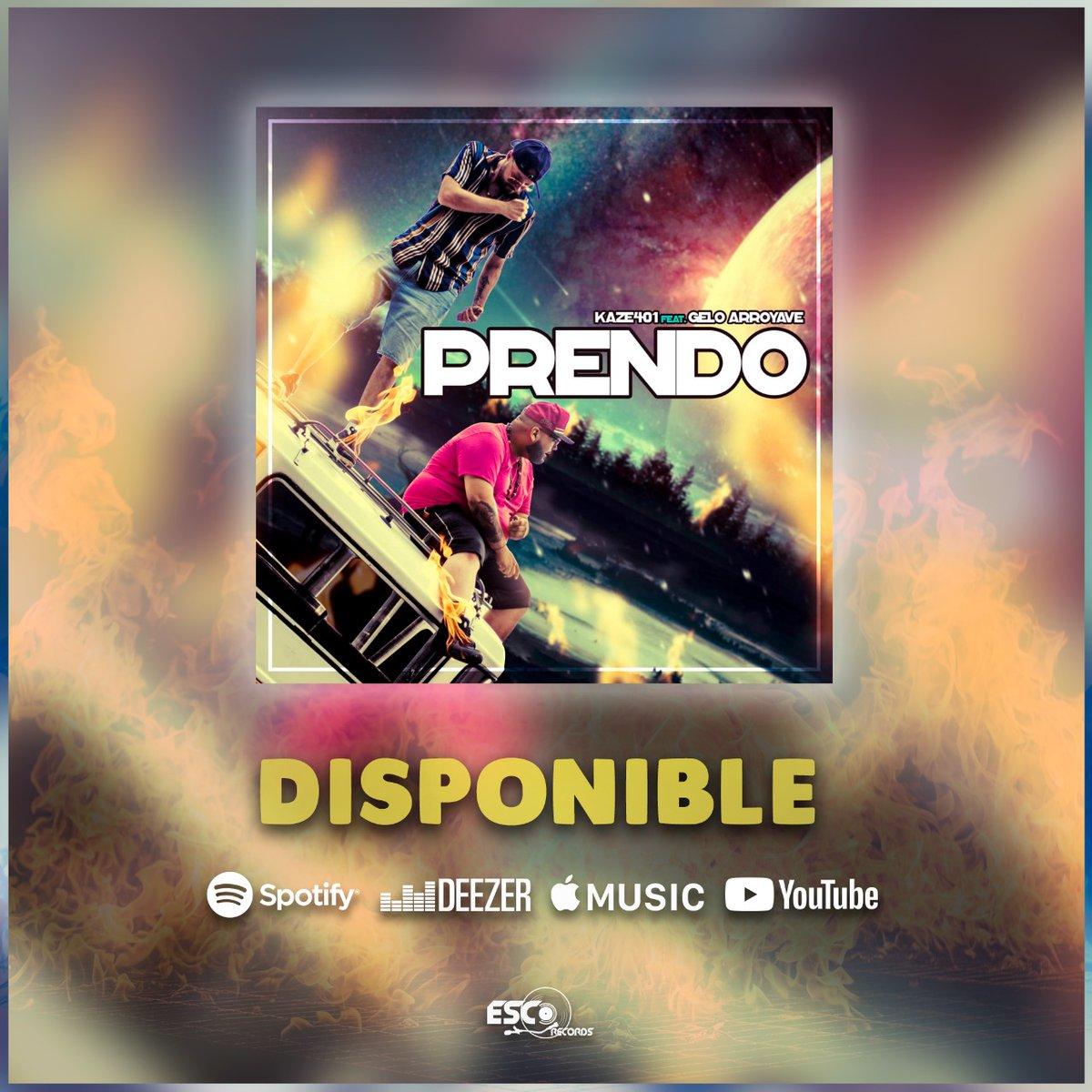Recuerda que puedes disfrutar de #Prendo en las diferentes plataformas digitales #Spotify #Deezer #Itunes #OneRPM #YoutubeMusic  http://bit.ly/PrendoKaze  #EscoRecords #Kaze401 #GeloArroyavepic.twitter.com/ZdXkYiLPEw