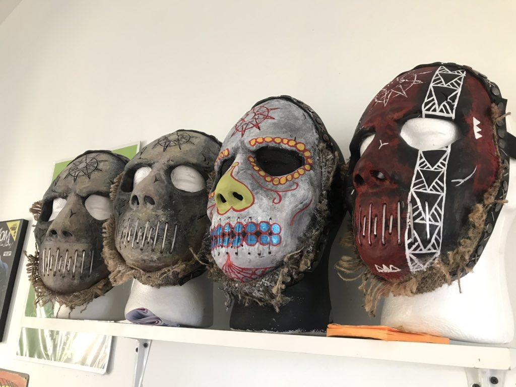 Some @jayweinbergdrum #WANYK #masks #JayWeinberg @slipknot #Slipknot #MskMkrCRpic.twitter.com/rJef0RKSMF