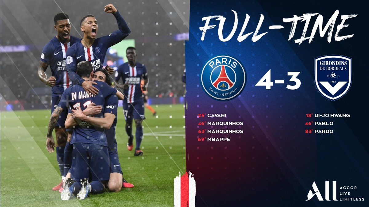 Victory at the end of the day! ✅   A tense battle where we took all three points and @ECavaniOfficial made history! 💪 #PSGFCGB   🔴🔵 #ICICESTPARIS