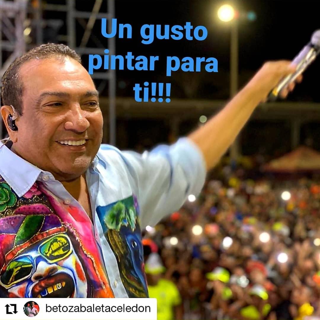 Un gusto pintar par ti BETO ZABALETA Repost @betozabaletaceledon • • • • • • Anoche desde Luruaco! Listos para las 3 de hoy#carnaval2020 #vallenatopuro #betozabaletapic.twitter.com/pEpwwOGgwp