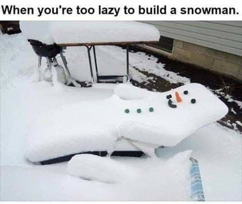 LOL I love this - When youre too lazy to build a snowman: