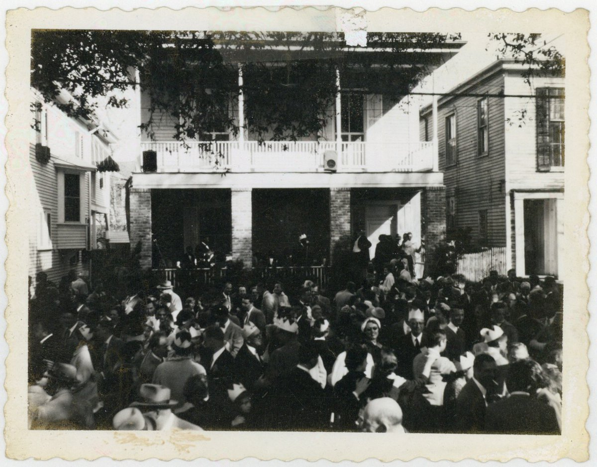Mardi Gras circa 1950: Octavia street block party, featuring music by Papa Celestin. #SundayFunday