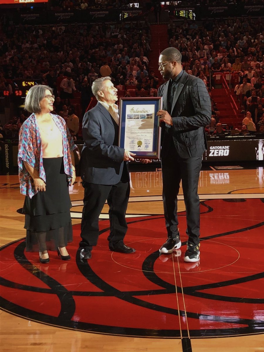 .@dwyanewade is bigger than basketball — his generosity and deep belief in giving back while always uplifting others has made our community a better place. It was a special honor to join @commishdiaz in declaring 2/22/20 Dwayne Wade Day! #WadeCounty