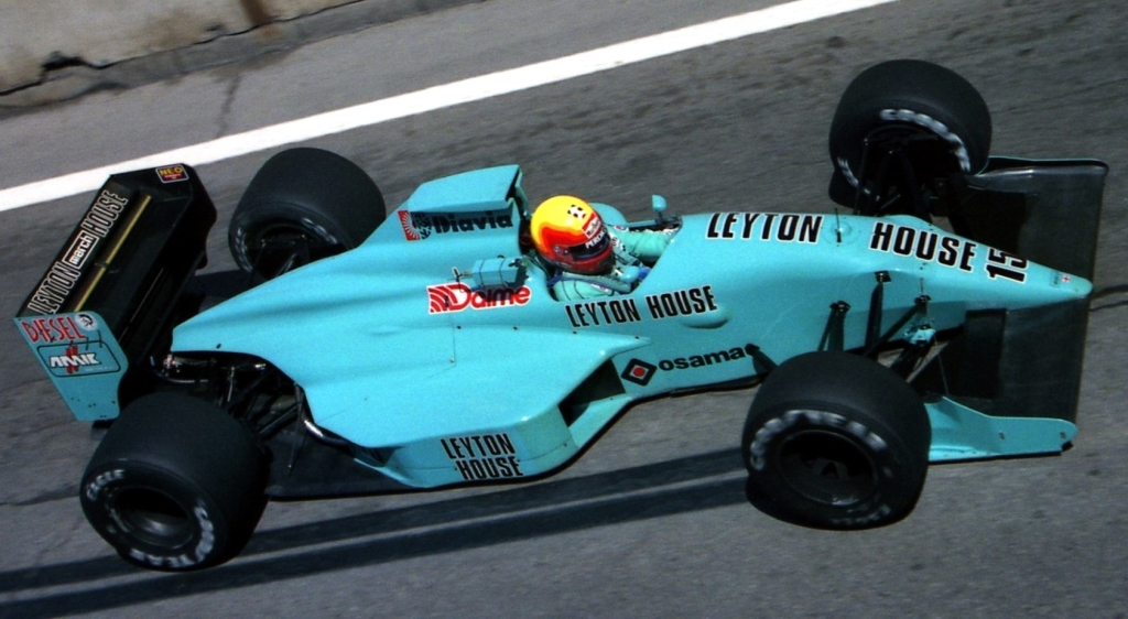 Mauricio Gugelmin, Leyton House March 881 - Judd CV 3.5 V8. GP Detroit 1988.  #F1
