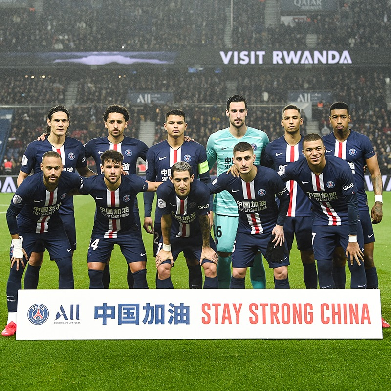 Paris Saint-Germain and its major partner @All - Accor Live Limitless - join forces to support the Chinese people who fight against the coronavirus and join the solidarity movement which is expressed throughout the world.   ✊Stay Strong China 🇨🇳
