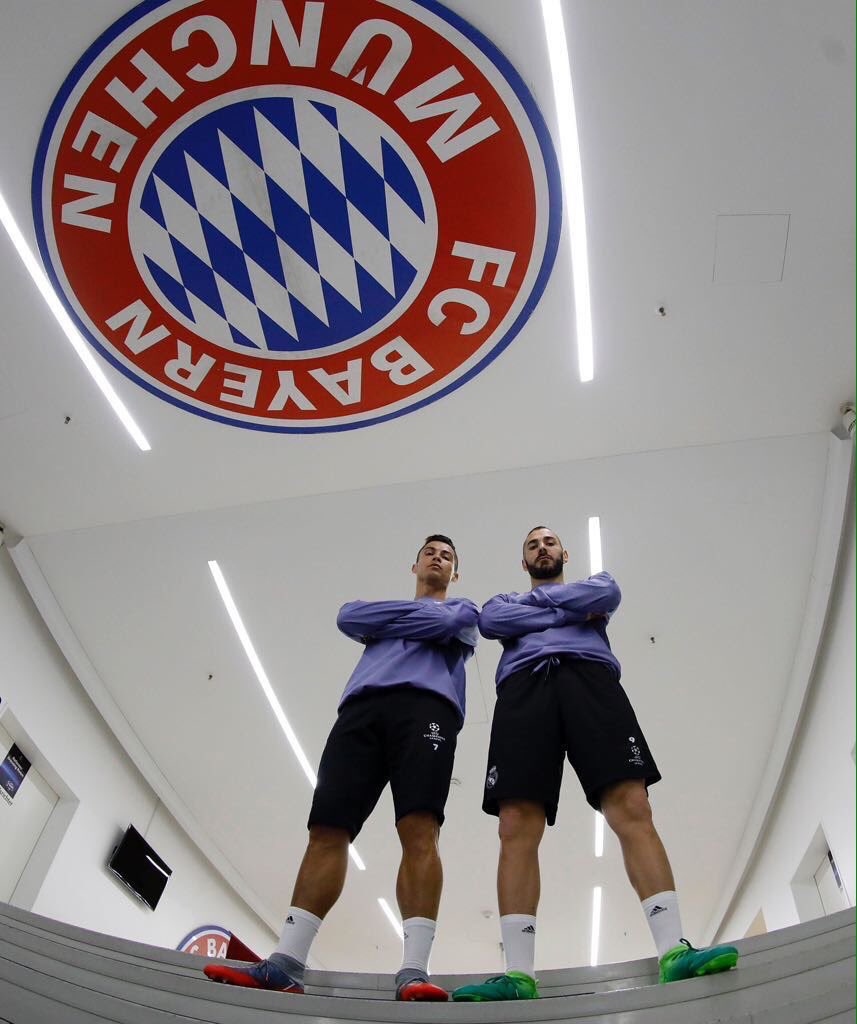 Cristiano Ronaldo x Karim Benzema before Bayern Munich UCL game, 🥶.