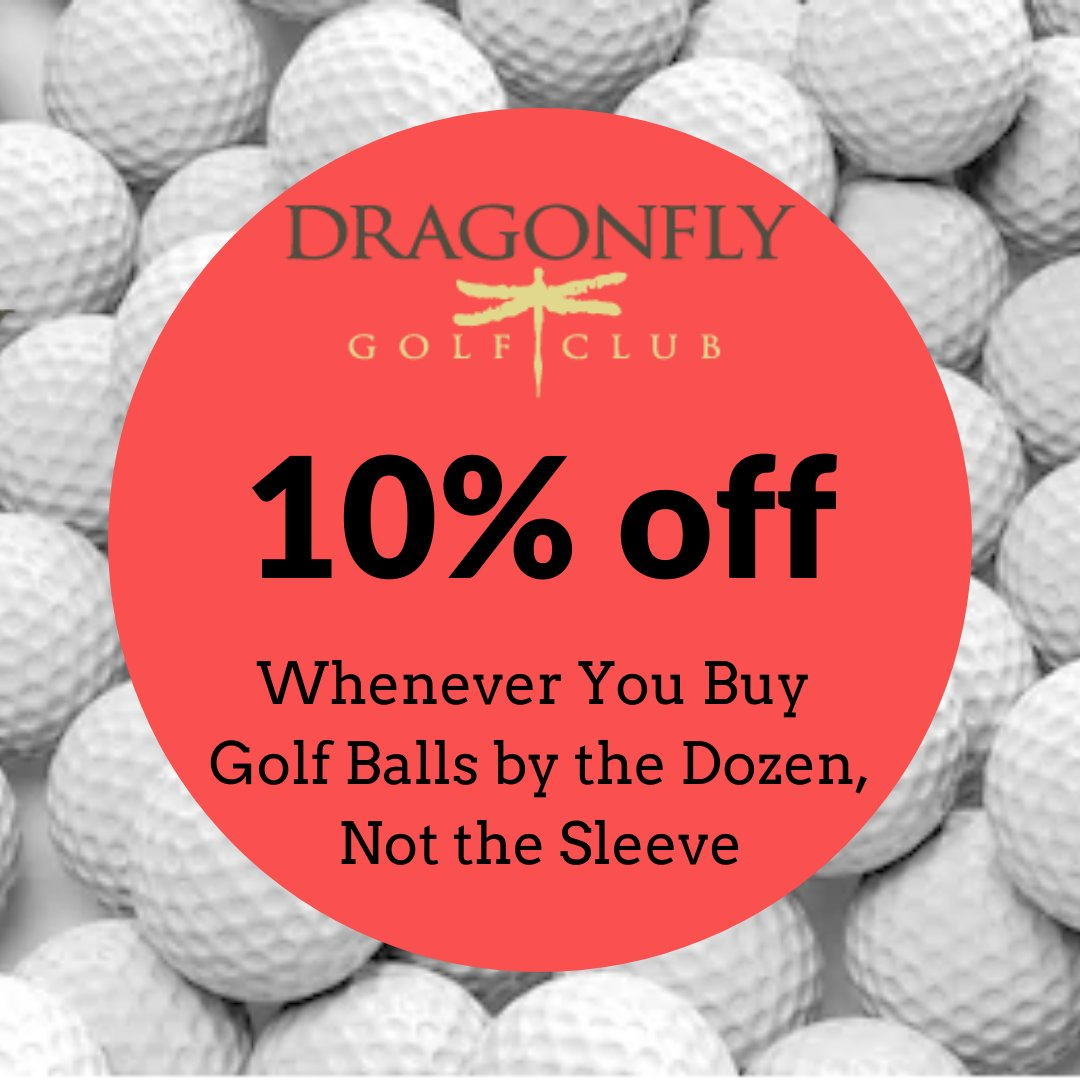 Buy your golf balls by the dozen, rather than the sleeve, at Dragonfly and get an extra 10% off year-round. We carry Titleist, TaylorMade, Callaway, Srixon, and Bridgestone.   #californiagolf #fresnogolfpic.twitter.com/tbmuvwkk4J