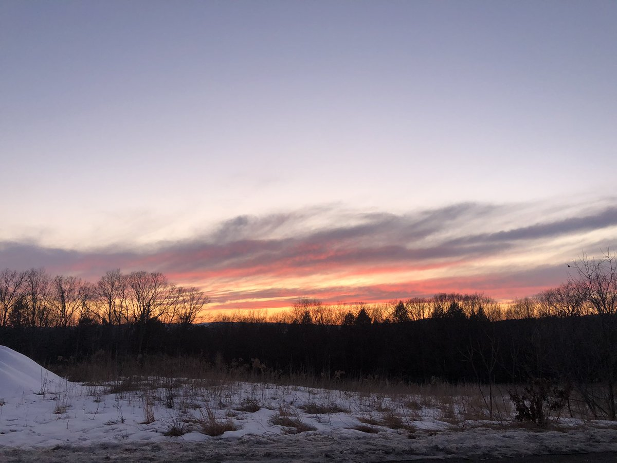 Just had to pull over & snap a photo of this beautiful sunset earlier along Route 9 near the NH/VT border. #Weather #sunset