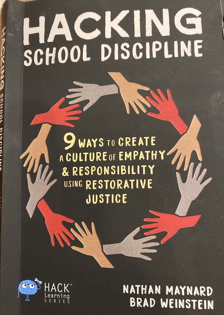 My new read:#HackingSchoolDiscipline 100%agree with this approach.