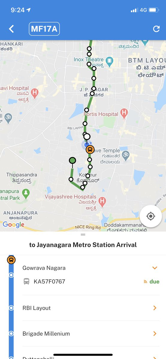 Move over @Olacabs&  @Uber the super cool @BMTC_BENGALURU app is here & working like a charm! today it delivered big time. I had to decide  auto or bus - looked up the app - it said bus arriving in 2 minutes & boom! it did! Please spread the word about MyBMTC  app! Kudos to BMTC! https://t.co/31e7rLtWUm