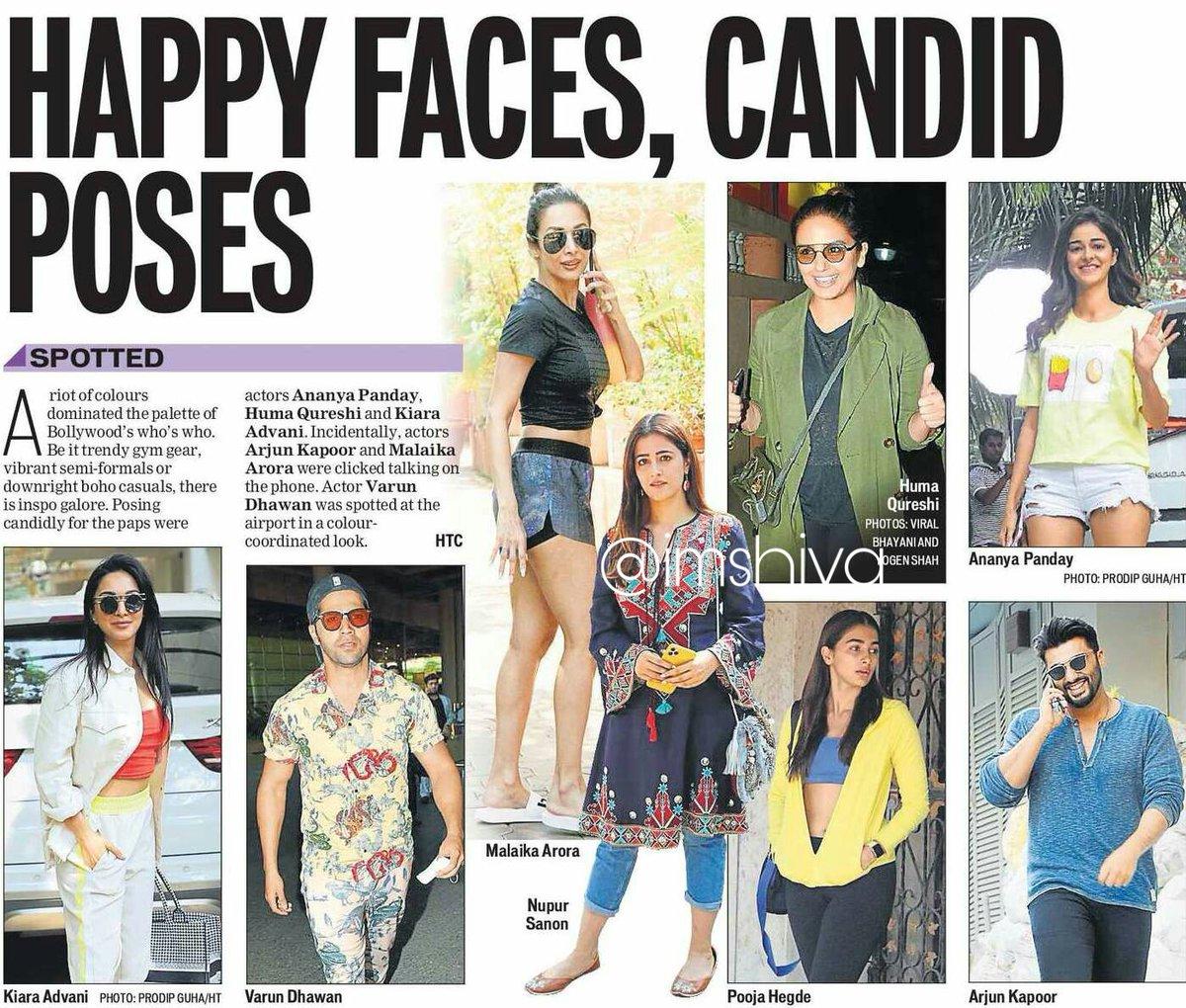 Happy faces, candid poses...   @Varun_dvn @advani_kiara @NupurSanon @hegdepooja @humasqureshi @ananyapandayy @arjunk26  #MalaikaArorapic.twitter.com/Cc45FHHp3a