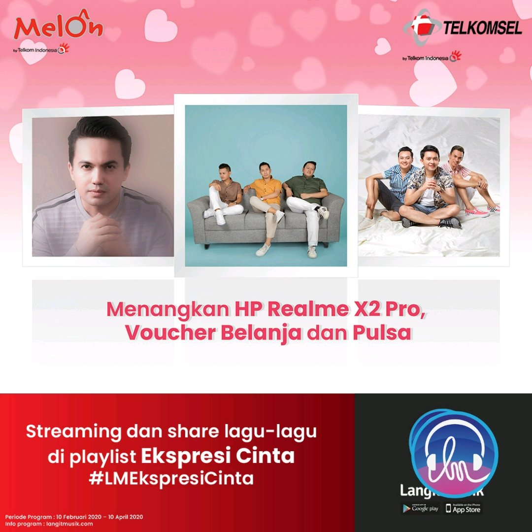 Yuk, Dengarkan Lagu Ekspresi Cinta by LangitMusik!! Via @LangitMusik @Telkomsel @aferecords #LMEkspresCinta #LMusikPlaylist #LMusikAplikasi @NSP1212official @MelOnIndonesia #LangitMusik #MusikTanpaKuota - https://www.langitmusik.co.id/sharePl.do?playlistId=4842386/ …pic.twitter.com/b8mOm4jTwm