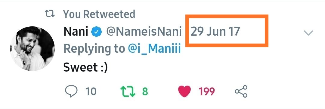 throwback @2017 - A day made for me. I got a reply from @NameisNani, that moments #HappyBirthdayNani anna pic.twitter.com/ui7CgfT5QJ